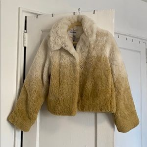 Weekday faux fur ombré jacket